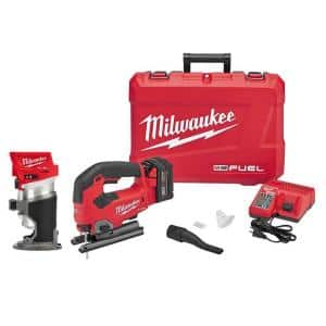 M18 FUEL 18-Volt Lithium-Ion Brushless Cordless Compact Router & Jig Saw Combo Kit (2-Tool) W/5.0Ah Battery & Charger