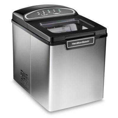 28 lbs. Freestanding Ice Maker in Stainless Steel