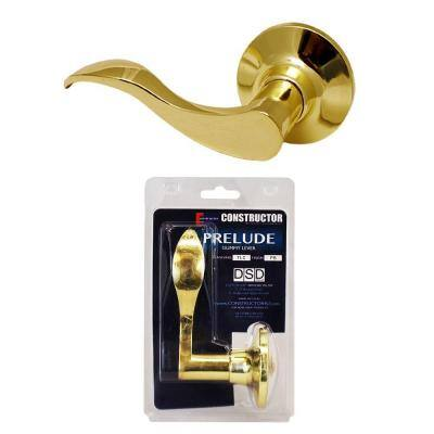 Polished Brass Prelude Dummy Door Lever Left-Handed