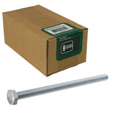 1/4 in.-20 x 4 in. Zinc Plated Hex Bolt (50-Pack)