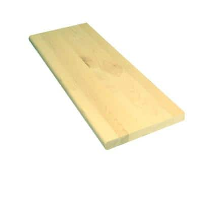 1 in x 11.5 in. x 42 in. Prefinished Natural Maple Tread