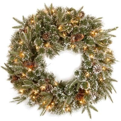 24 in. Liberty Pine Artificial Christmas Wreath with Clear Lights