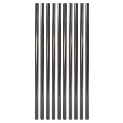 26 in. x 3/4 in. Oil Rubbed Bronze Steel Round Deck Railing Baluster (10-Pack)