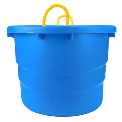 12-Gal. Utility Storage Bin in Blue (2-Pack)