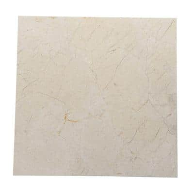 Natural Stone Collection Crema Marfil 12 in. x 12 in. Marble Floor and Wall Tile (10 sq. ft. / case)