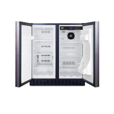 30 in. 5.4 cu. ft. Built-In Mini Refrigerator in Black with Freezer and Panel-Ready, Counter Depth