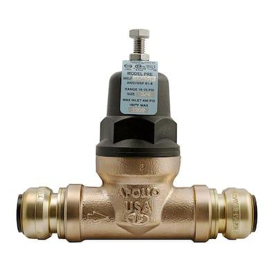 3/4 in. Bronze 36ELF Push-to-Connect Water Pressure Regulator