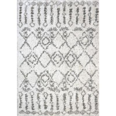Nordic Ivory/Grey 7 ft. 5 in. x 10 ft. 6 in. Moroccan Area Rug