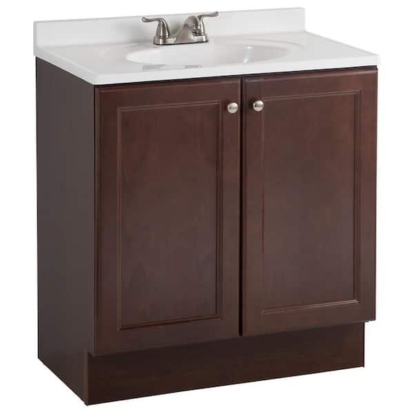 Glacier Bay Vanity Pro All In One 31, Bathroom Cabinets Home Depot