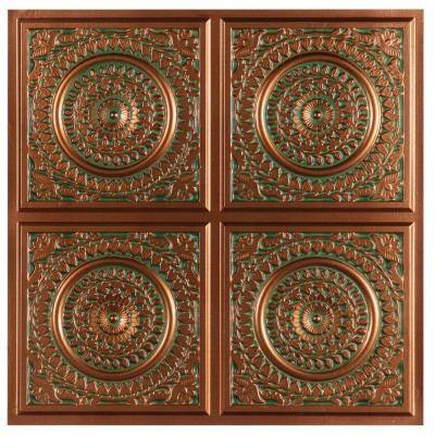 Maurice 2 ft. x 2 ft. Glue-up Ceiling Tile in Patina Copper (49 sq. ft. / case)