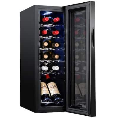 9.9 in. 12-Bottle Compressor Freestanding Wine and Beverage Cooler