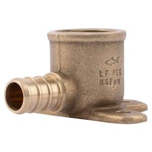 1/2 in. PEX Barb x FIP Brass 90-Degree Drop-Ear Elbow Fitting