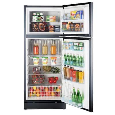 14 cu. ft. Propane Top Freezer Refrigerator Dual Power in Black (Propane/110-Volt)