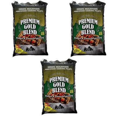 Premium Gold Blend Pure Hardwood Grilling Pellets (3-Pack)