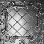 2 ft. x 2 ft. Clip Up Tin Ceiling Tile in Bare Steel (24 sq. ft./case)