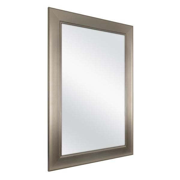 Home Decorators Collection 24 In W X, Brushed Nickel Framed Vanity Mirror
