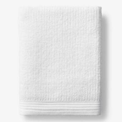 Green Earth Quick Dry White Solid Cotton Bath Sheet