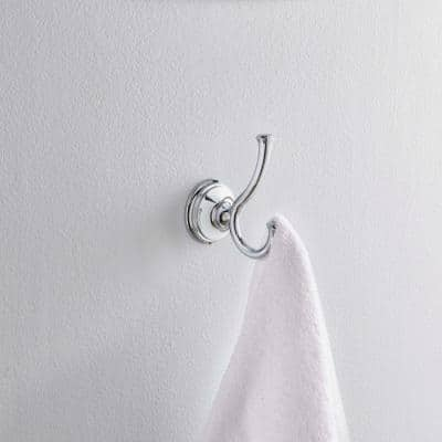 Cassidy Double Towel Hook in Chrome