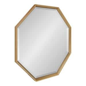 Medium Novelty Gold Beveled Glass Contemporary Mirror (31.5 in. H x 31.5 in. W)