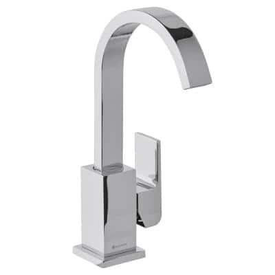 Farrington Single Hole Single-Handle High-Arc Bathroom Faucet in Chrome