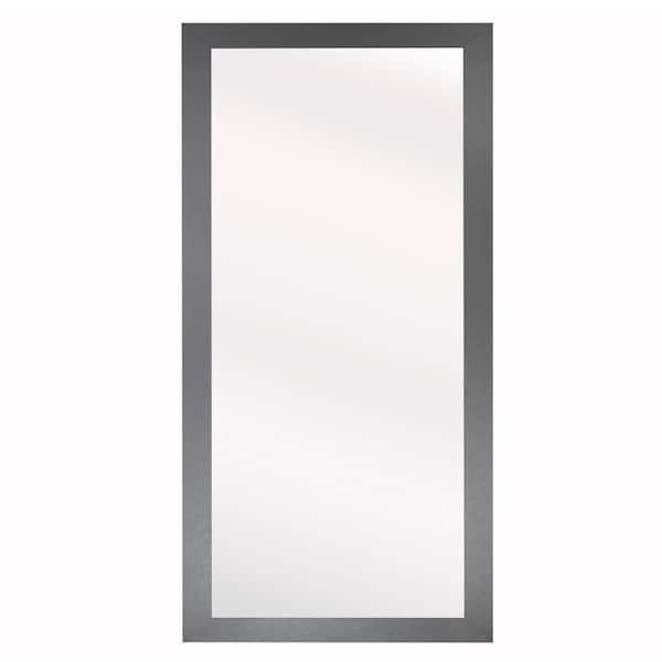 Large Rectangle Jaded Platinum Modern, Large Rectangular Modern Mirrors