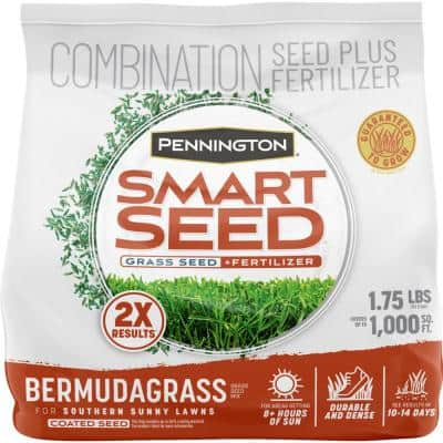 Smart Seed 1.75 lbs. Bermuda Grass Seed and Fertilizer