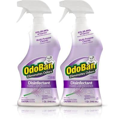 32 oz. Ready-to-Use Lavender Disinfectant Fabric and Air Freshener, Mold and Mildew Control Multi-Purpose Spray (2-Pack)