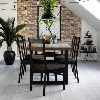 Robertson Rustic Gray Metal Base Dining Chair (Set of 2)