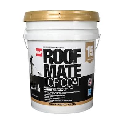 Roof Mate Top Coat 5 Gal. Charleston Green Acrylic Elastomeric Roof Coating (15-Year Limited Warranty)