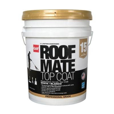 Roof Mate Top Coat 5 Gal. Teal Green Acrylic Elastomeric Roof Coating (15-Year Limited Warranty)