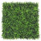"GorgeousHome Artificial Boxwood Hedge Greenery Panels,20""x20""/pc (Milan_12pc)"