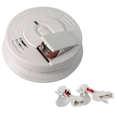 Firex Smoke and Carbon Monoxide Detector, Hardwired with Battery Backup and Voice Alarm, Adapters Included, 2-Pack