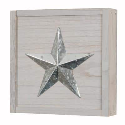 Wall Decor Distressed Gray Solid Wood Wall Hanging Storage Cabinet