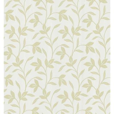 Leaf Trail Olive Wallpaper Sample