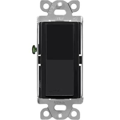 Claro On/Off Switch, 15-Amp, Single-Pole, Black