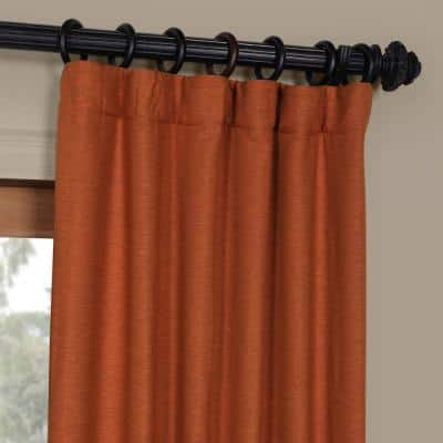 Persimmon Rod Pocket Blackout Curtain - 50 in. W x 84 in. L