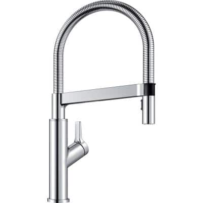 SOLENTA SENSO Semi-Pro Single-Handle Pull-Down Sprayer Kitchen Faucet with Automatic Sensor in Polished Chrome
