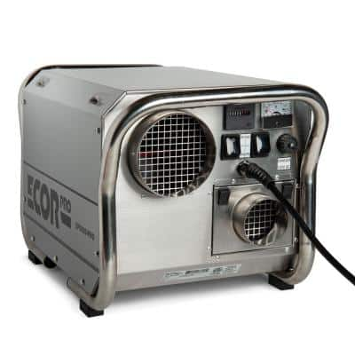 200 Pint Portable Commercial Stainless Steel Desiccant Dehumidifier for Basement, CrawlSpace, Whole House and Warehouses