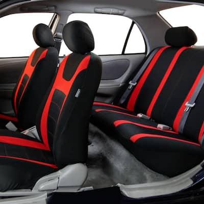 Fabric 47 in. x 23 in. x 1 in. Full Set Sports Car Seat Covers