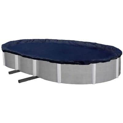 11 ft. x 15 ft. Oval Blue Above-Ground Winter Pool Cover