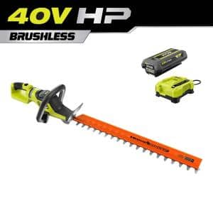 40V HP Brushless 26 in. Cordless Battery Hedge Trimmer with 2.0 Ah Battery and Charger