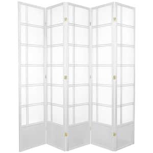 7 ft. White 5-Panel Room Divider