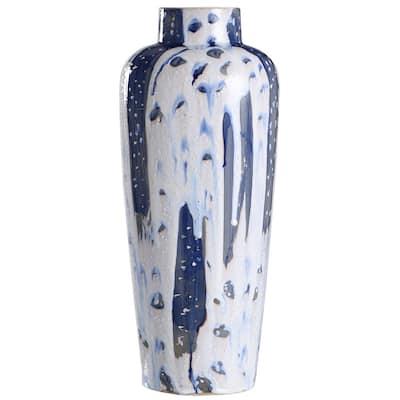 Romani Romani Blue Ceramic Vase