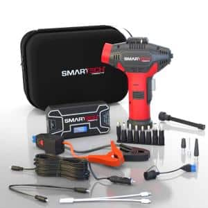 Power Kit TECH-5000P Vehicle Jump Starter and Power Bank with Accessories + Air Compressor + Carrying Case