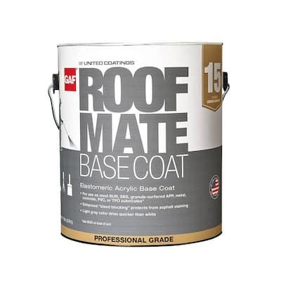 Roof Mate Base Coat 1 Gal. Light Gray Acrylic Reflective Elastomeric Roof Coating (15-Year Limited Warranty)