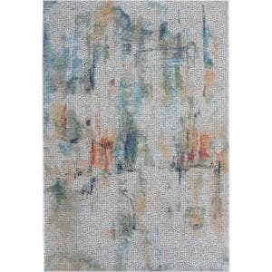 Global Vintage Ivory/Multicolor 4 ft. x 6 ft. Oriental Contemporary Area Rug