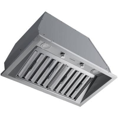 Pro 28 in. 600 CFM Ducted Insert Range Hood in Stainless Steel