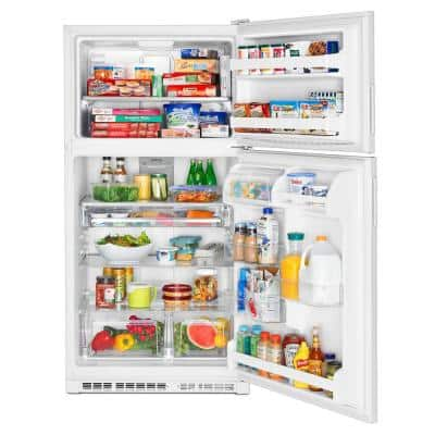 21 cu. ft. Top Freezer Refrigerator in White