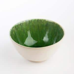 Bali 4-Piece Green & White Ceramic Cereal Bowl Set