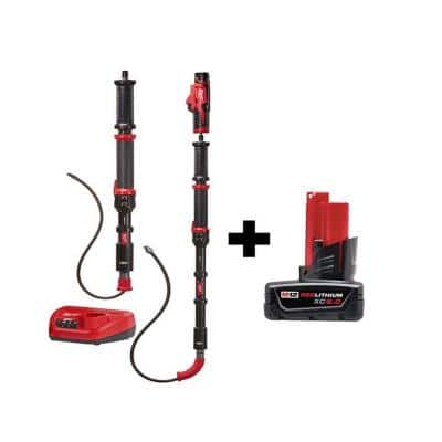 M12 Trap Snake 12-Volt Lithium-Ion Cordless 4 ft. and 6 ft. Auger Drain Cleaning Combo Kit with M12 6.0Ah Battery